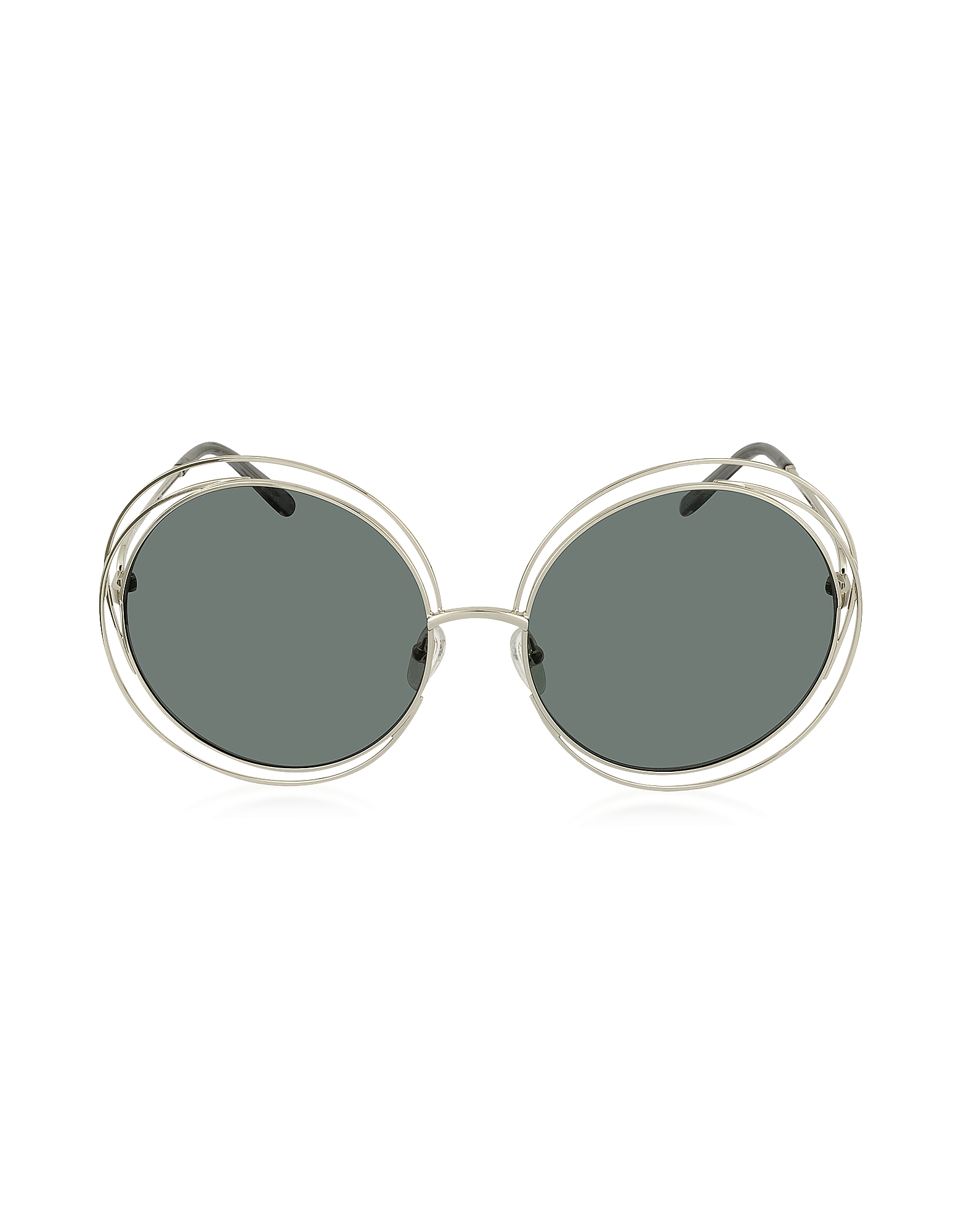 Chloe Sunglasses, CARLINA CE 114S Metal Oval Women's Sunglasses