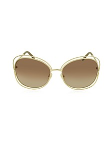 CARLINA CE 119S 786 Gold Metal Square Women's Sunglasses - Chloe