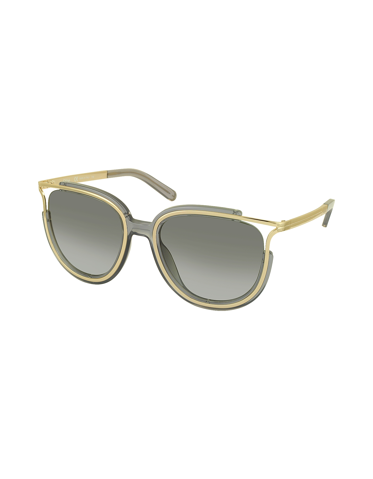 JAYME CE 688S 036 Gray Acetate and Gold Metal Square Women's Sunglasses от Forzieri.com INT
