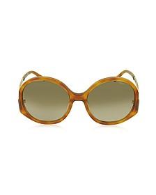 CE 707S 725 Light Havana Acetate Square Women's Sunglasses - Chloe