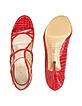 Watermelon Patent Croco Strappy Sandal Shoes - Casadei