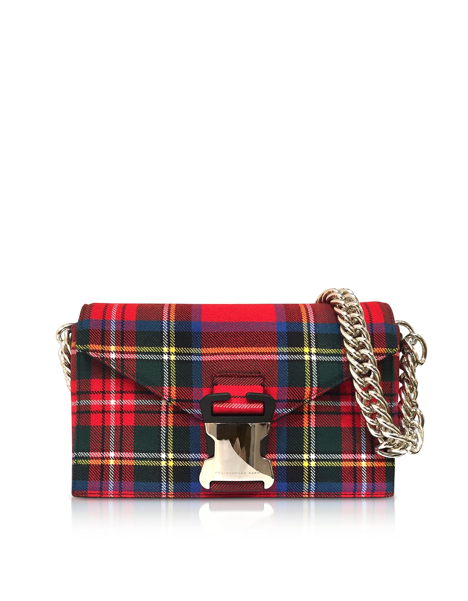 Christopher Kane Handbags, Mars Red Tartan Small Devine Bag