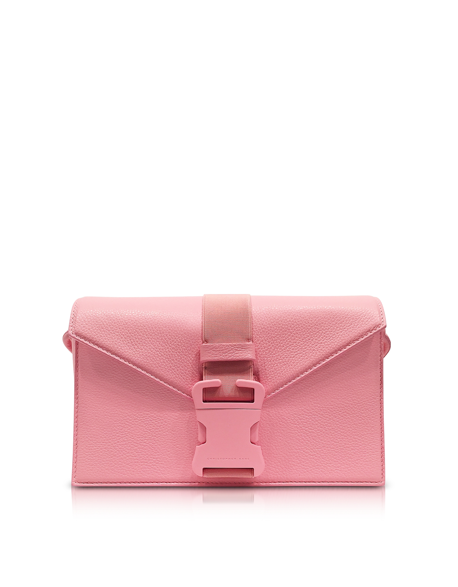 Christopher Kane Handbags, Venus Pink Grained Leather Devine Og Bag