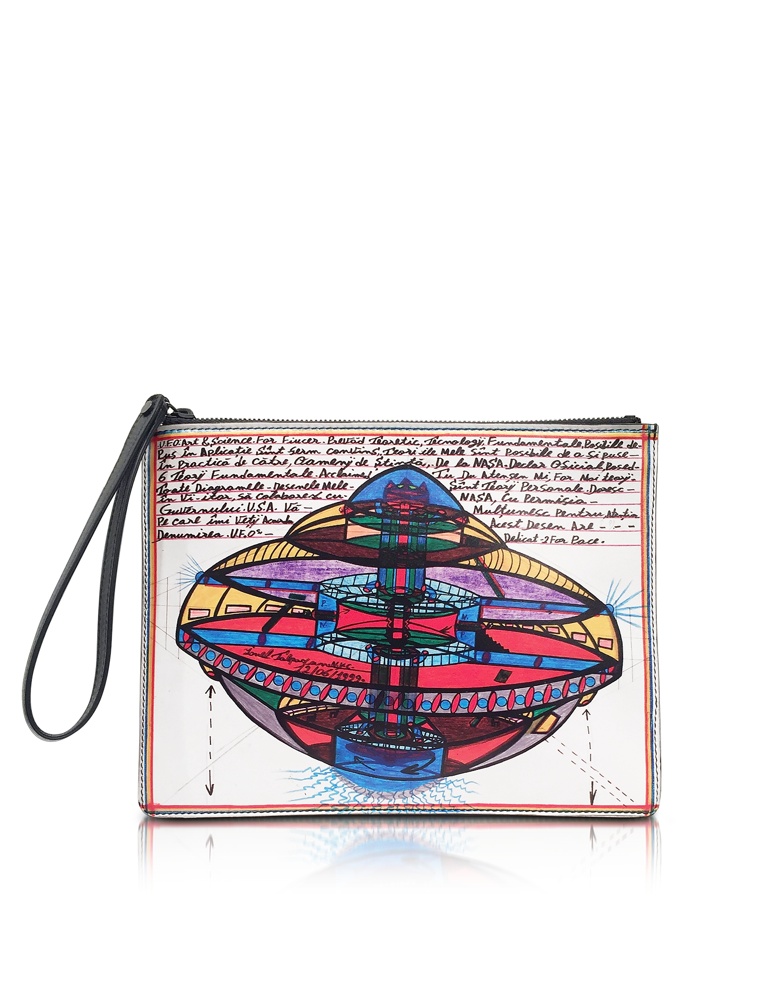 Christopher Kane Handbags, Ufo Print Leather Clutch