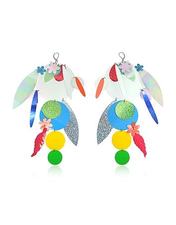 Christopher Kane - Oversize Disc Multicolor Earrings