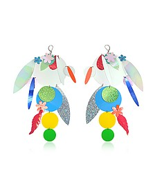 Oversize Disc Multicolor Earrings - Christopher Kane