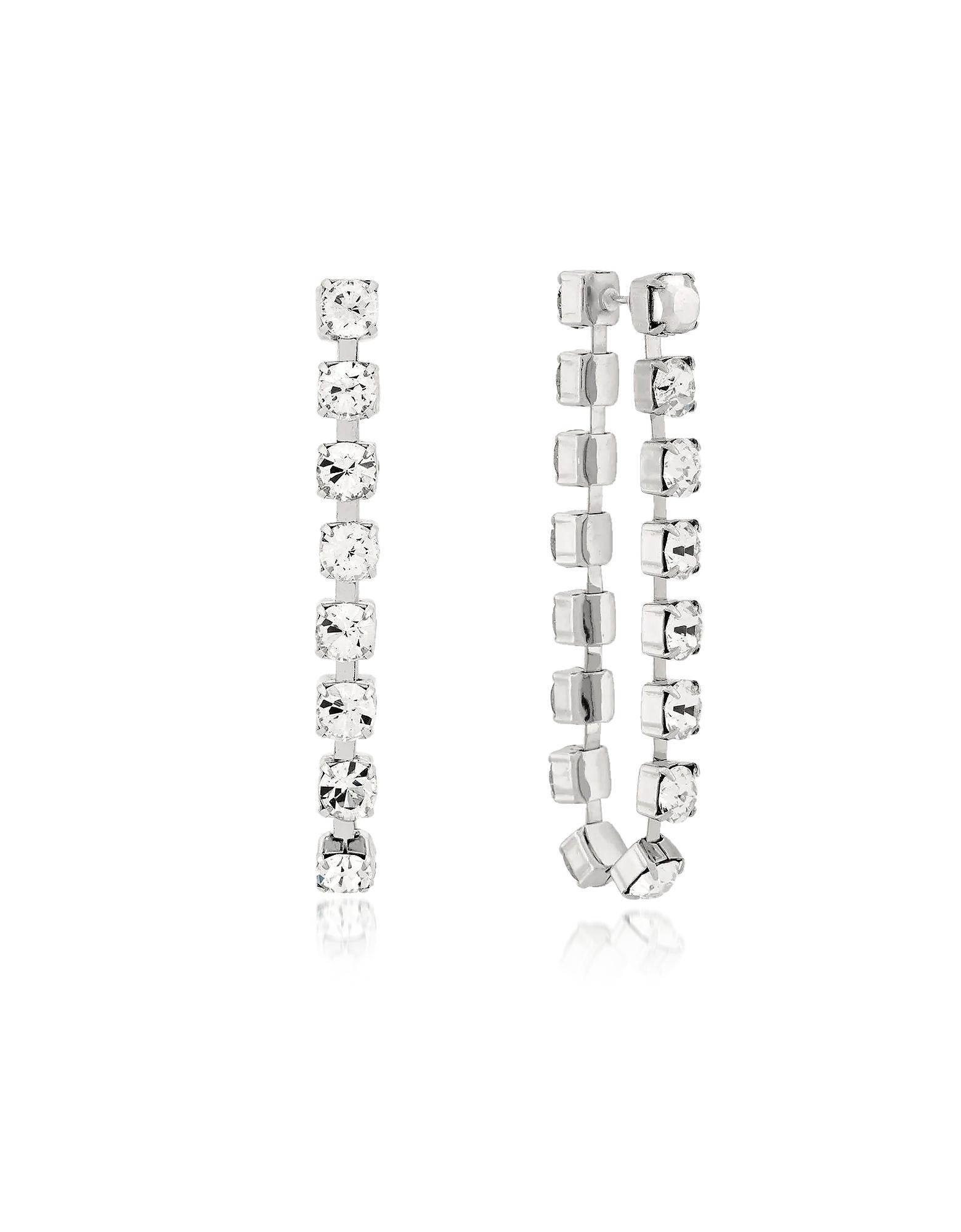 Image of Christopher Kane Designer Earrings, Crystal Chain Earrings