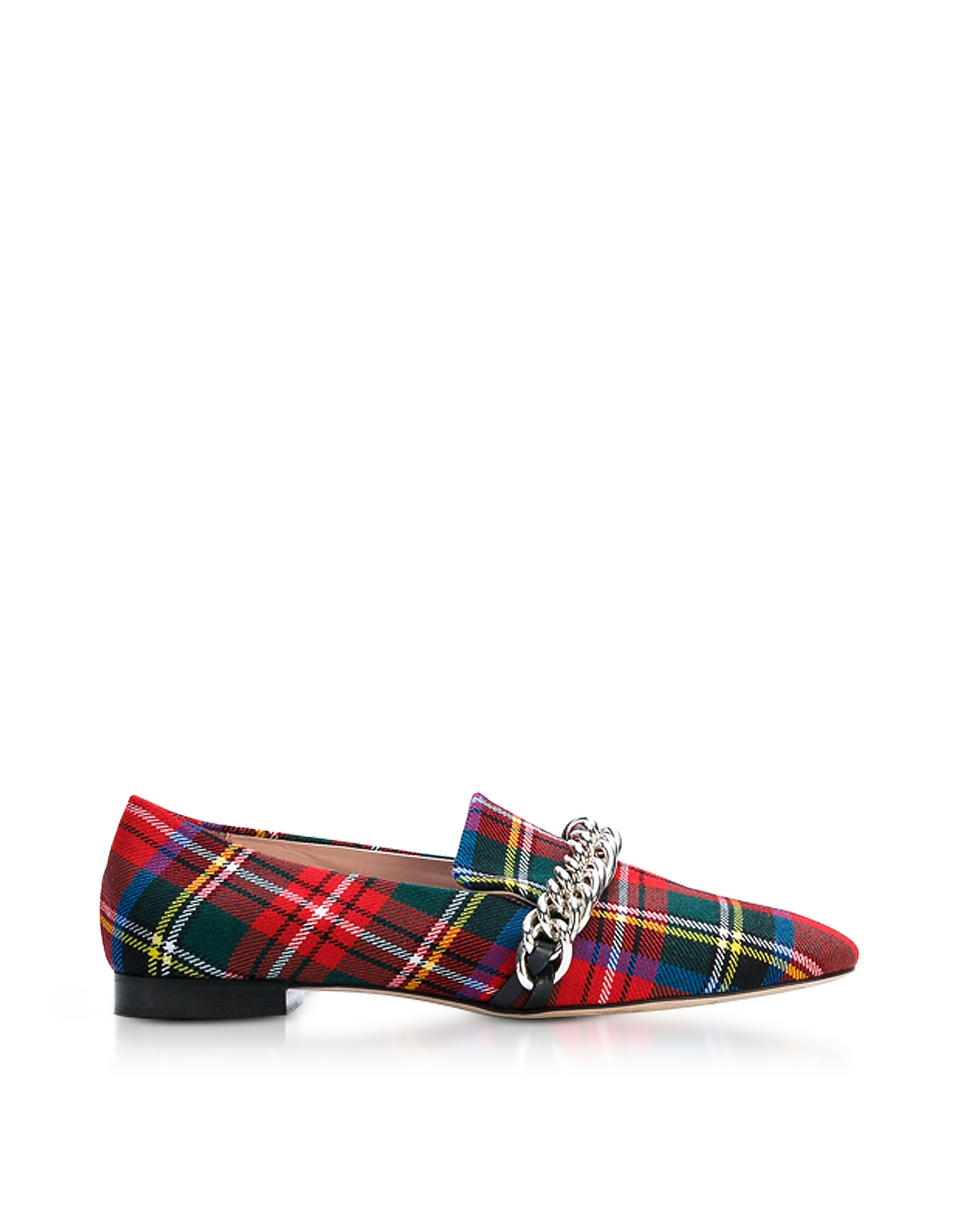 Christopher Kane Shoes, Red Tartan Chain Loafer
