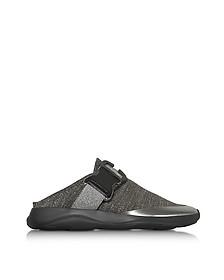 Tonal Grey & Silver Fabric Slide Sneaker - Christopher Kane