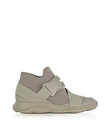 Putty Gray Neoprene High Top Women's Sneakers - Christopher Kane