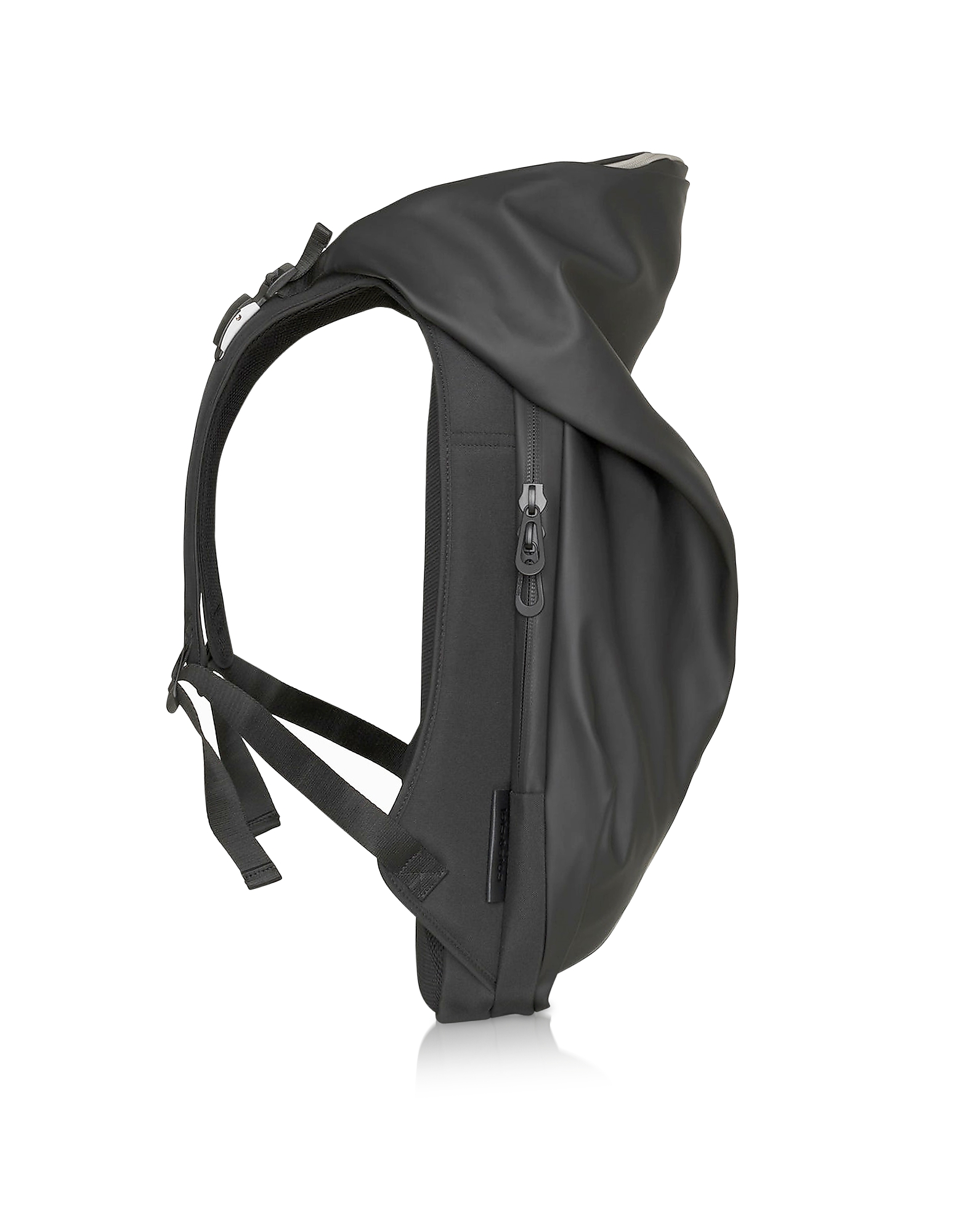 New Nile Obsidian Black Polyester Backpack