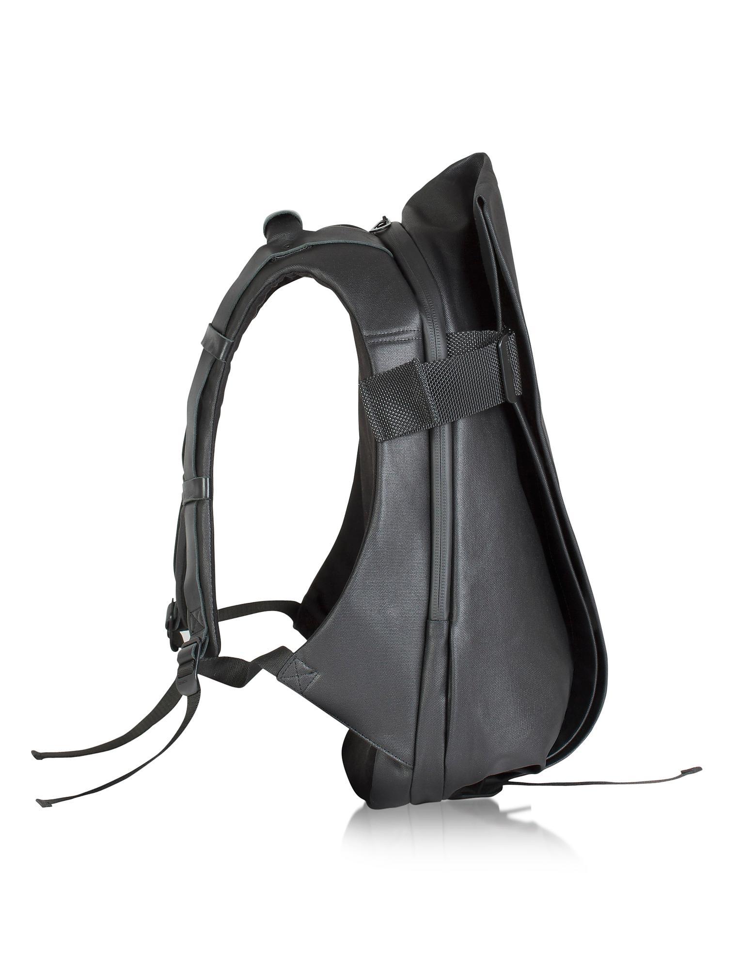 Isar - Черный Рюкзак из Ткани Среднего Размера