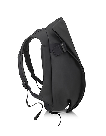 Isar Black Eco Yarn Medium Backpack