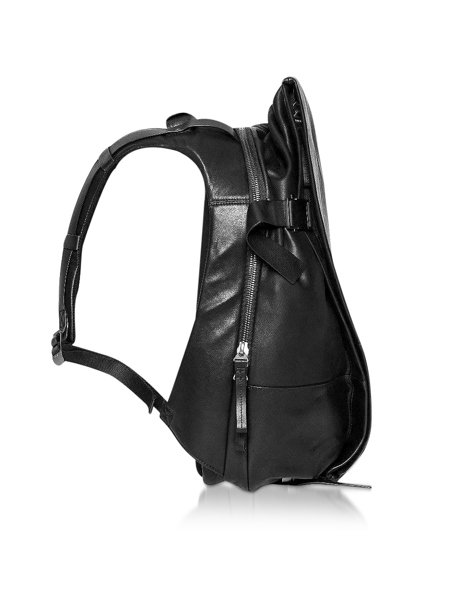 Black Leather ISAR M Backpack