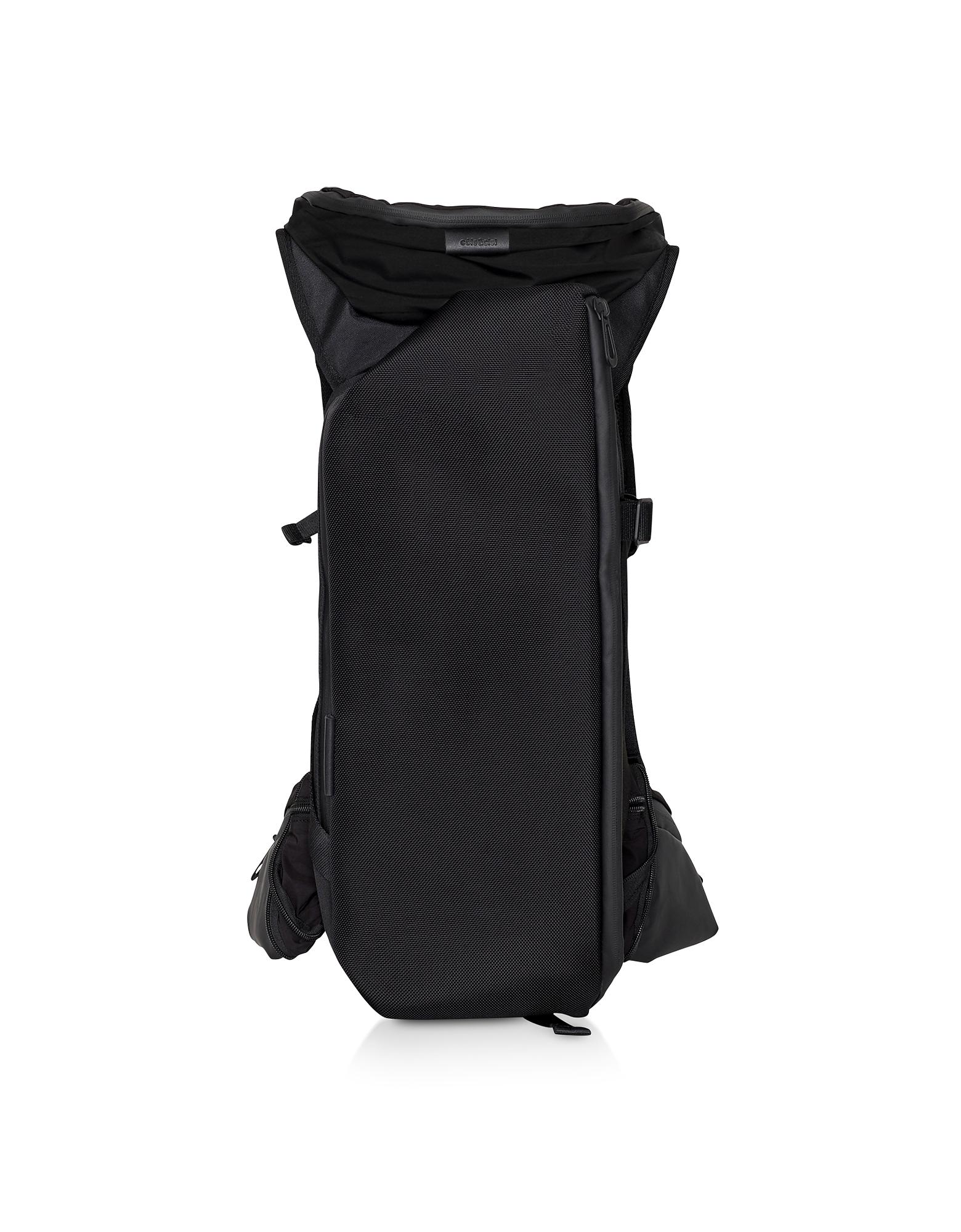 Ashokan Black Ballistic Nylon Backpack