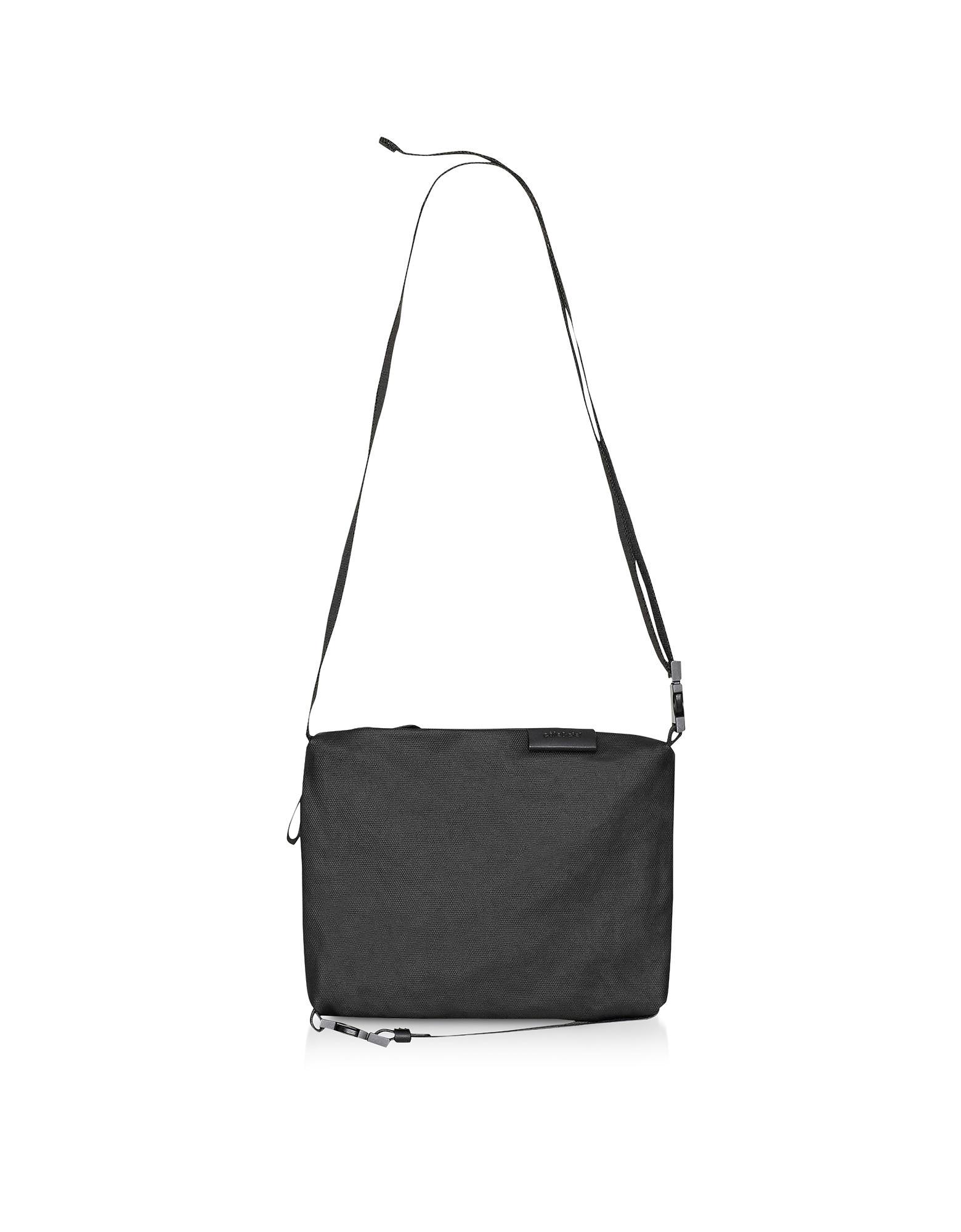 Black Coated Canvas Inn S Crossbody Bag