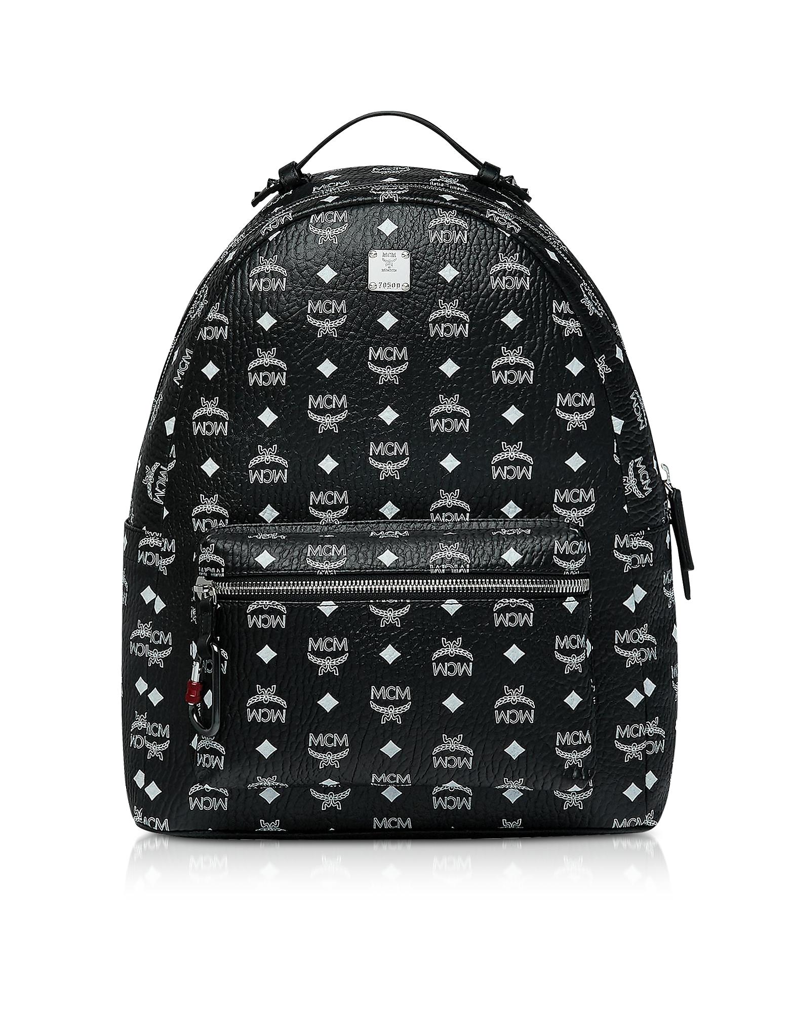Black Stark Backpack w/White Logo Visetos 40
