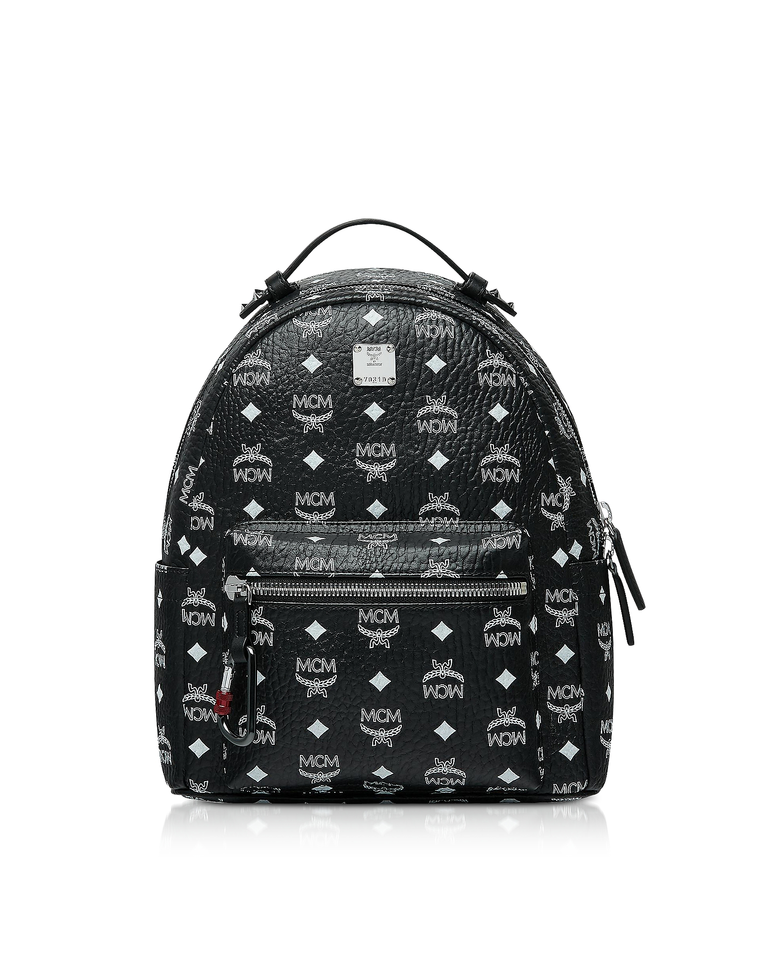 Black Stark Backpack w/White Logo Visetos 32