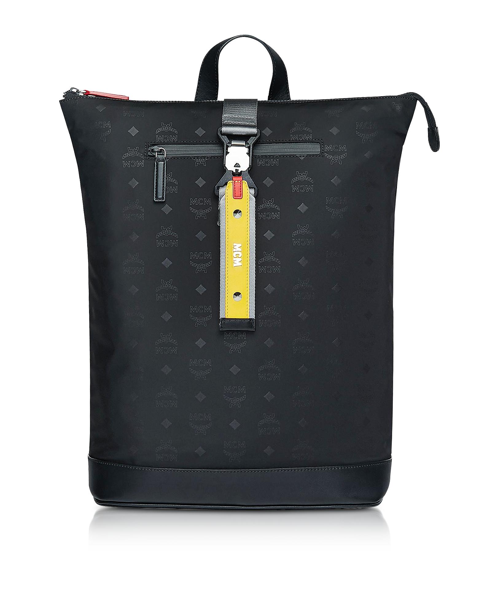 Black Monogram Nylon Resnick Backpack