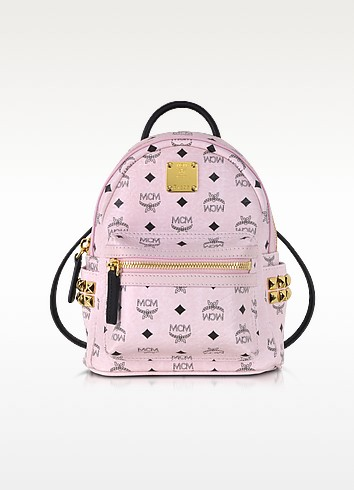 Chalk Pink Extra Mini Stark Backpack - MCM