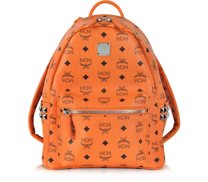 Orange Small Stark Backpack - MCM