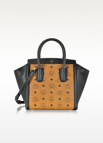 Kathy Visetos Small Cognac & Black Tote - MCM