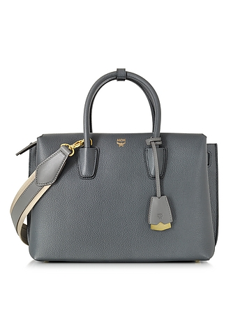 MCM - Milla Phantom Grey Leather Medium Tote