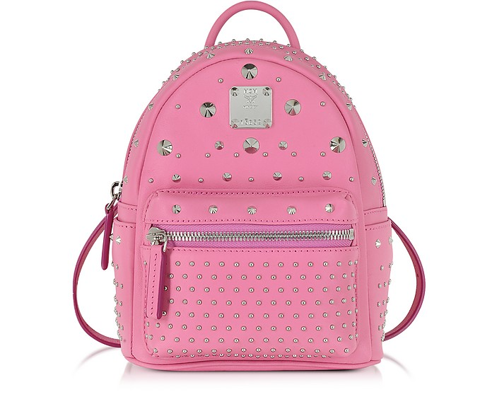 Stark Special Bebe Boo Chateau Rose Leather Backpack - MCM