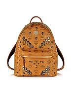 MCM Small Stark Backpack Zaino con Borchie - mcm - it.forzieri.com
