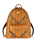 MCM Medium Stark Backpack Zaino con Borchie - mcm - it.forzieri.com