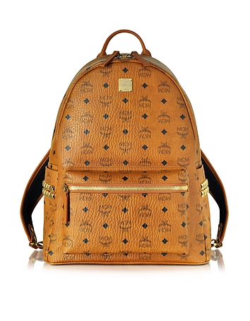 MCM - Medium Stark Cognac Backpack