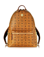 MCM Medium Stark Backpack Zaino Cognac con Borchie - mcm - it.forzieri.com