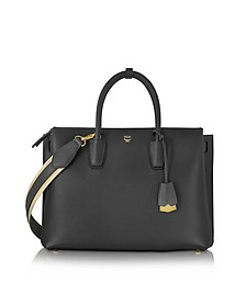 Milla Park Avenue Black Leather Medium Tote - MCM
