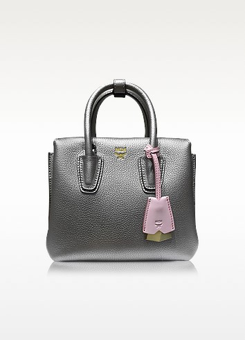 Milla Park Avenue Spike Silver Leather Mini Tote - MCM