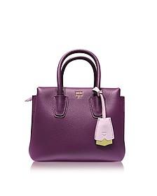 Milla Park Avenue Mystic Purple Leather Mini Tote - MCM