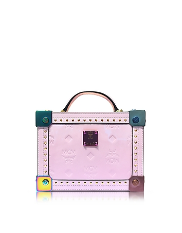 Berlin Prism Pink Patent Leather Small Crossbody