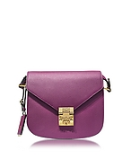 MCM Patricia Small Borsa con Tracolla in Pelle Mystic Purple - mcm - it.forzieri.com