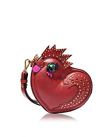 New Year Series Rooster Ruby Red Leather Crossbody - MCM