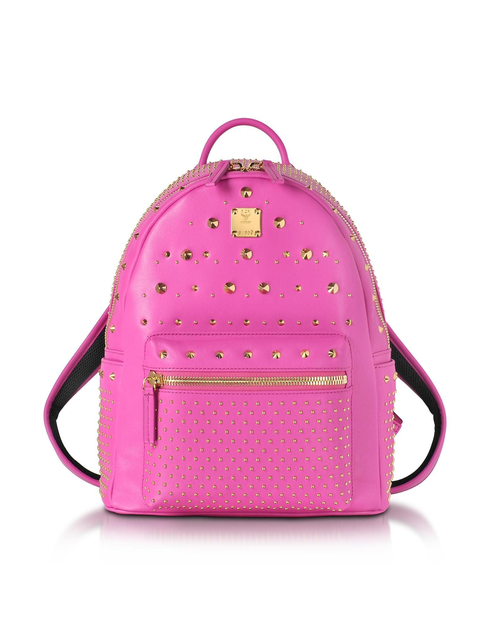 Фото Stark Special - Маленький Рюкзак из Кожи Ярко-Розового Цвета. Купить с доставкой