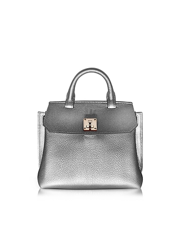 MCM - Milla Spike Silver Park Avenue Leather Small Crossbody
