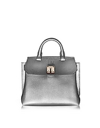 MCM Milla Park Avenue Small Crossbody in Pelle Spike Silver - mcm - it.forzieri.com