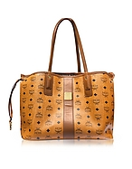 MCM Shopper Project Visetos Liz Medium Shopper Cognac Reversibile - mcm - it.forzieri.com