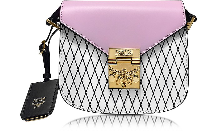 Patricia Rombi White and Prism Pink Leather Shoulder Bag - MCM