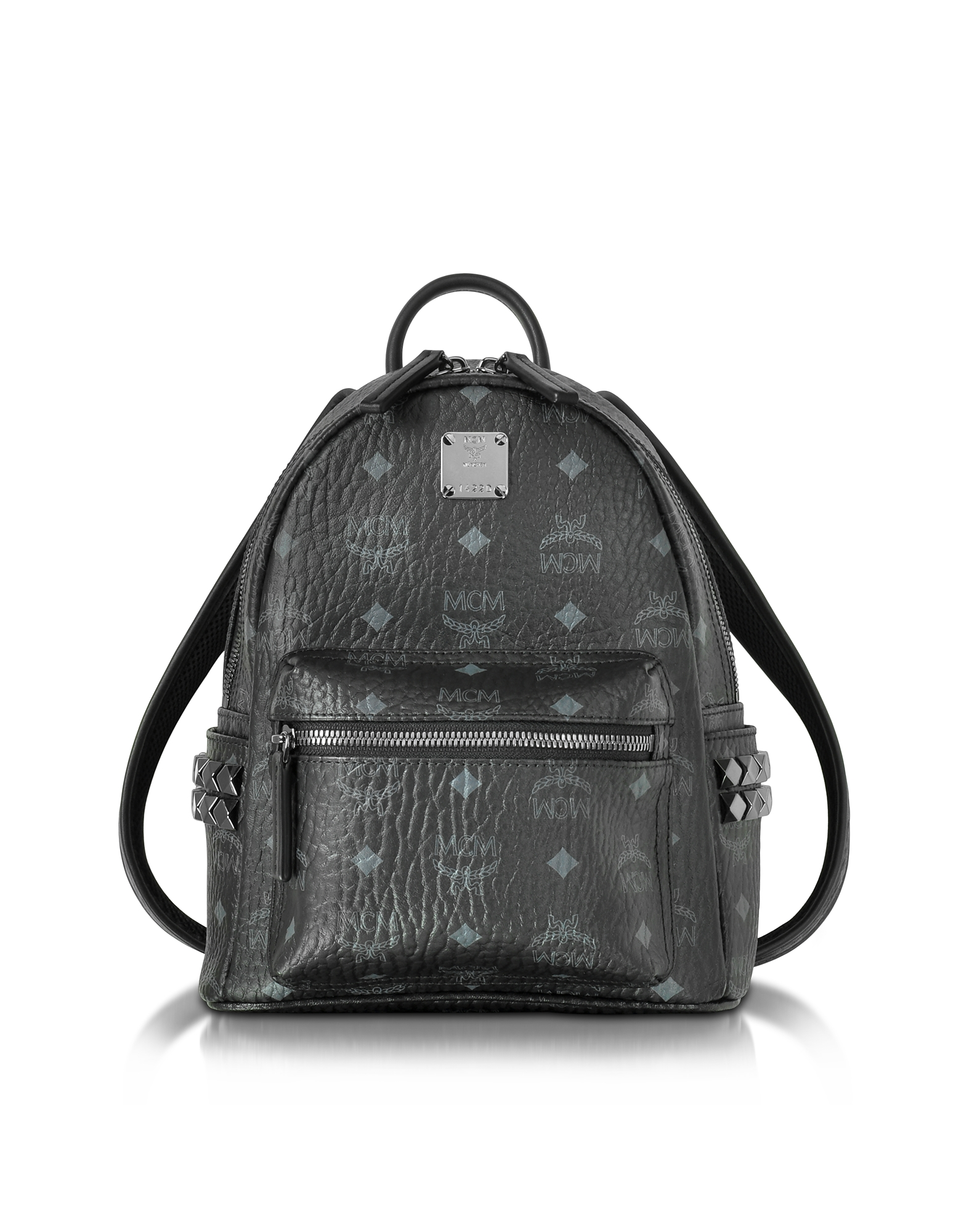 MCM Handbags, Black Mini Stark Backpack
