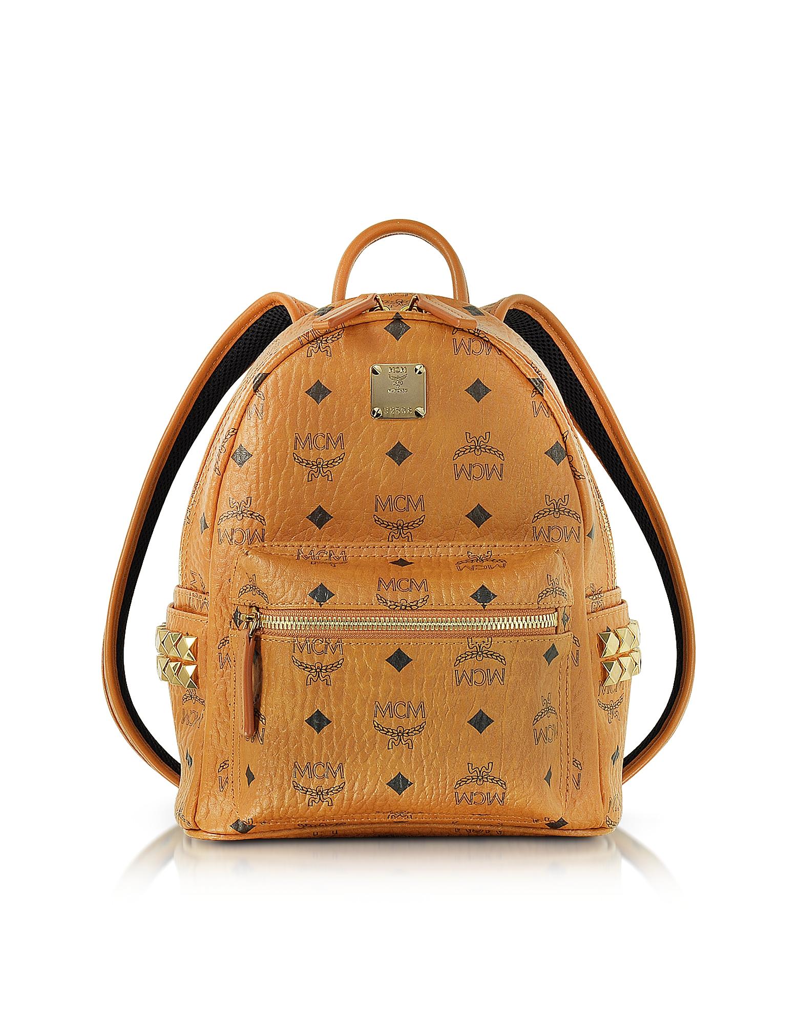 MCM Handbags, Cognac Mini Stark Backpack