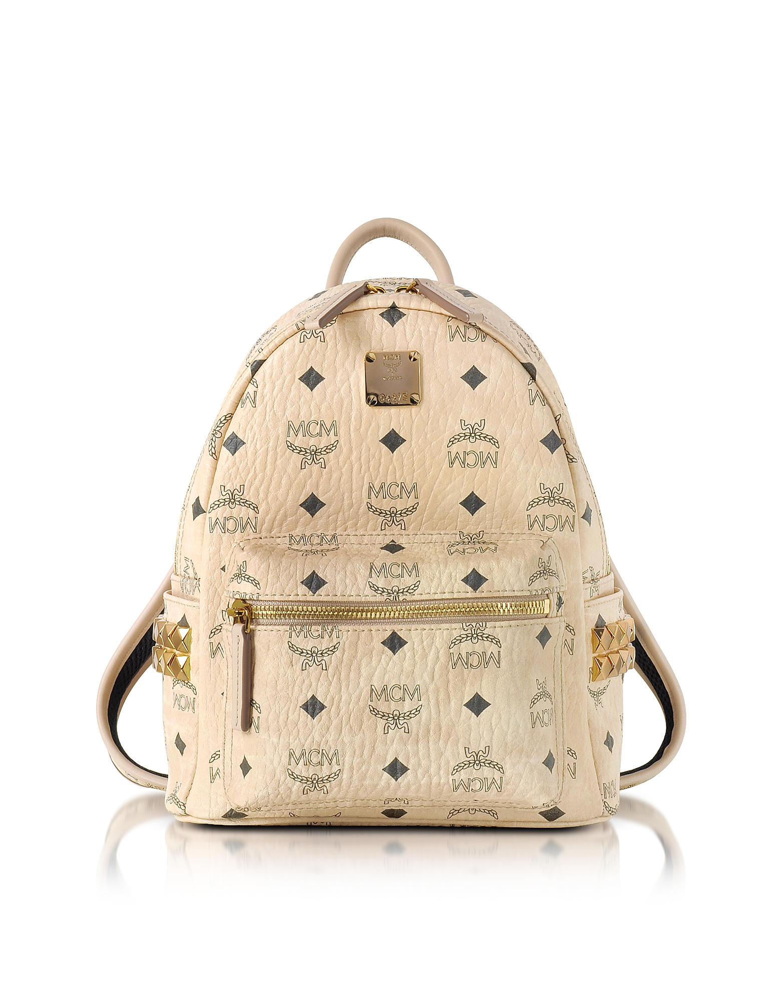 MCM Handbags, Beige Mini Stark Backpack