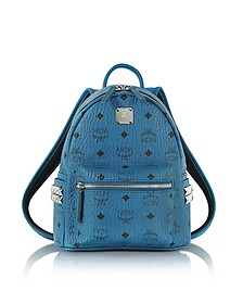 Munich Blue Mini Stark Backpack - MCM