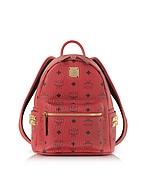 MCM Mini Stark Red Zaino con Logo - mcm - it.forzieri.com