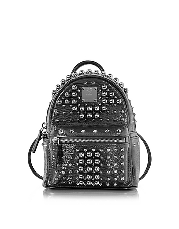 Black X-Mini Stark Pearl Studs Backpack