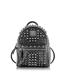 Black X-Mini Stark Pearl Studs Backpack - MCM